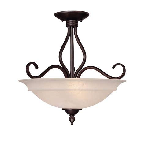 Semi Flush Bronze Ceiling Light Illumine 3 Light Ceiling Fixture Bronze Semi Flush Mount Cli Sh202851567 The Home Depot