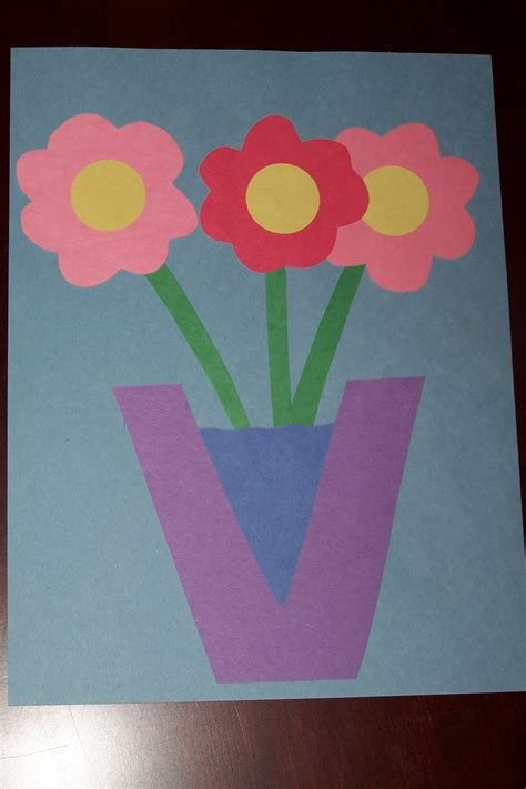 V Is For Vase by The Princess And The Tot Letter Crafts Uppercase