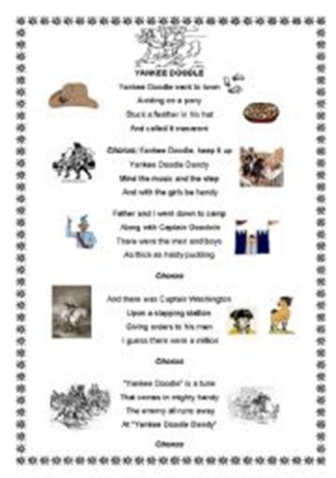 yankee doodle song free mp3 worksheets yankee doodle song