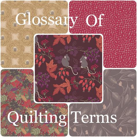 Quilt Terms by Glossary Of Quilting Terms New Forest Fabrics