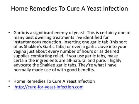 will garlic cure a yeast infection yeast