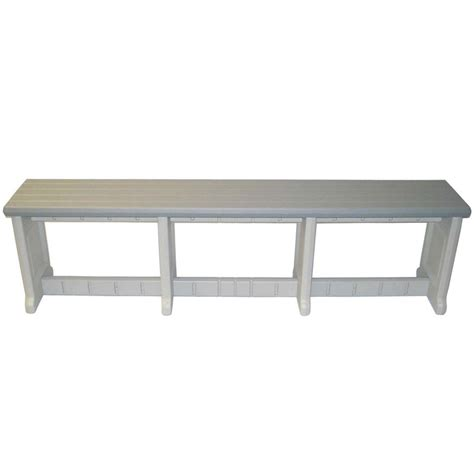 plexiglass bench 74 inch plastic patio bench in outdoor benches