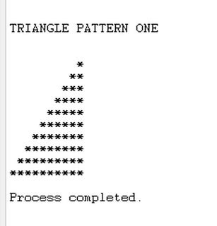 java program triangle pattern free programming source codes to all triangle pattern in java