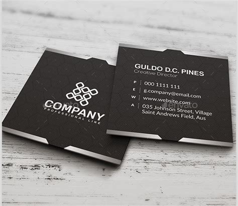 22 Square Business Cards Free Psd Eps Illustrator Format Download Free Premium Templates Square Business Card Template Free