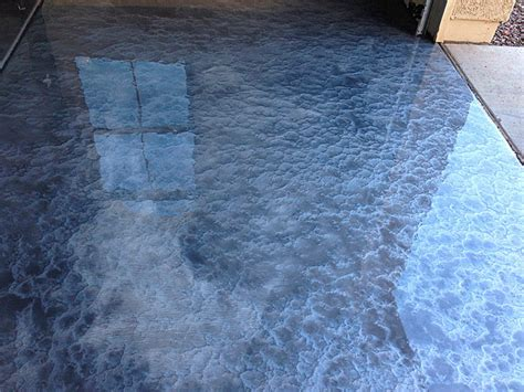 white powder on concrete garage floor