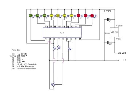 led temperature indicator circuit lm3914 28 images led temperature indicator circuit lm3914