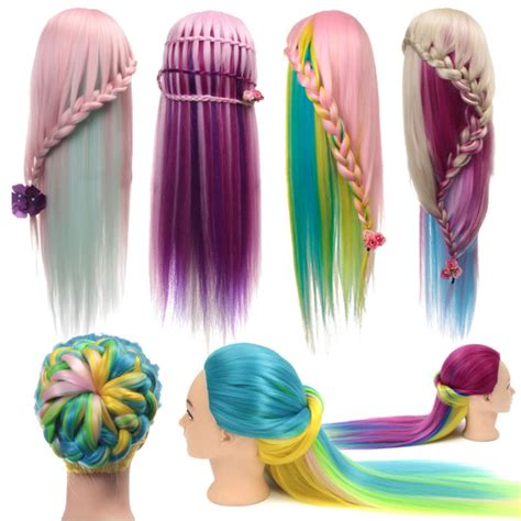 mannequin head to practice braiding in st louis multicolor hairdressing training head mannequin model