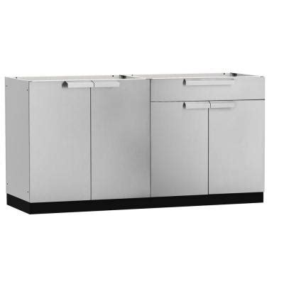 outdoor kitchen cabinets home depot newage products stainless steel classic 2 piece 97x36x64