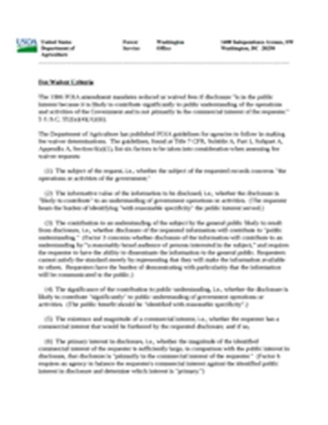 Design Guidelines Waiver Committee | responses to congressional committees u s forest service