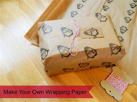 Make Wrapping Paper - make your own wrapping paper ethical fashion and