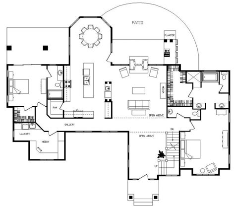 floor plan front view cottage country farmhouse design minimalist modern