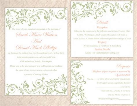 diy printable wedding invitation templates diy wedding invitation template set editable word file