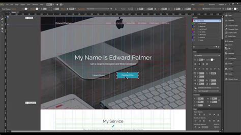 Adobe Muse Cc Template Quot Edward Palmer Quot How To Edit Quot Home Quot Section Youtube Adobe Muse Cc Templates
