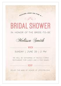 Bridal Shower Menu Template by Sle Bridal Shower Invitation Template 25 Documents
