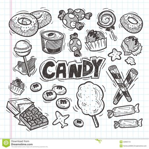 doodle drawing illustrator set of doodle icons royalty free stock image image