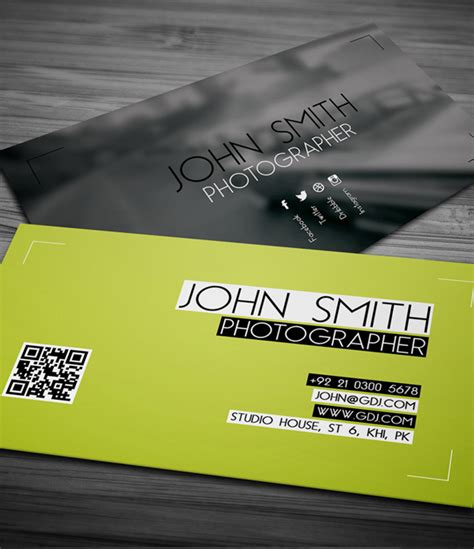 free photography business card template free business cards psd templates print ready design