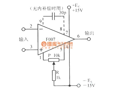 integrated circuit and application the basic application circuit of integrated operational lifier f007 basic circuit circuit
