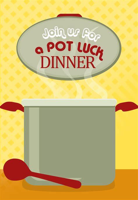 free printable pot luck dinner invitation kids