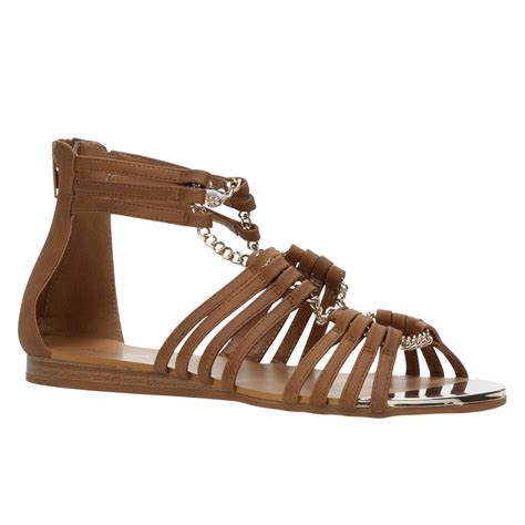 aldo brown sandals aldo albisano strappy flat sandals in brown lyst