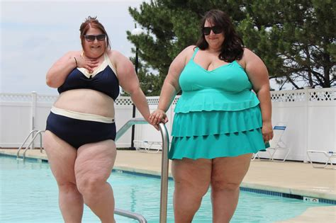 picture of heavy set women in a two piece bathing suit ck food cooking