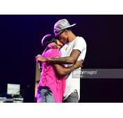 August Alsina And His Mother Attend The 2014 V 103 WAOK Car Amp Bike