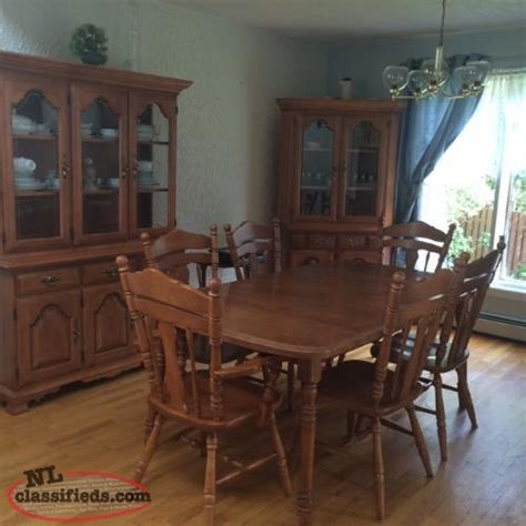 solid maple formal dining room set st s newfoundland