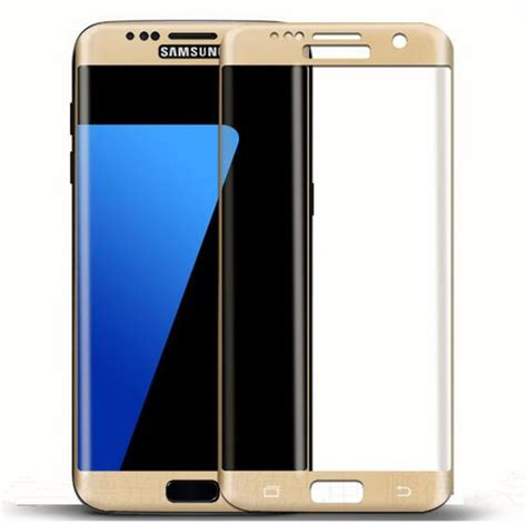 Tempered Glass Samsung S7 Edge Warna Black Gold Silver new premium silk print tempered glass screen protector for samsung galaxy s7 edge buy tempered