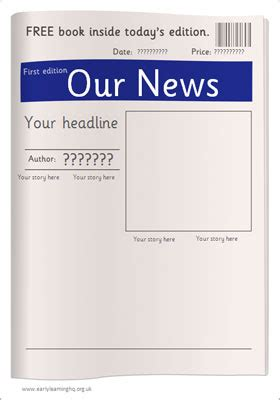Editable Newspaper Template Free Early Years Primary Teaching Resources Eyfs Ks1 Editable Newspaper Template