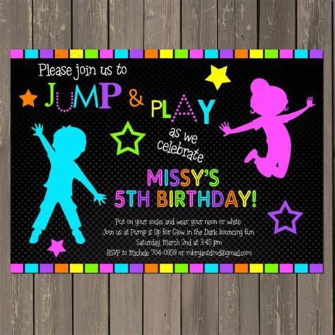 Bounce House Birthday Invitations Templates Free Bounce Invitation Template
