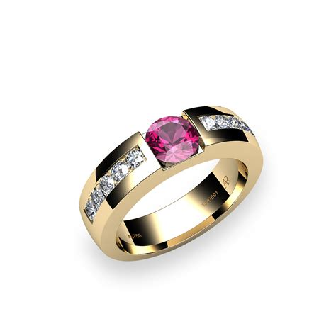 18k gold pink tourmaline ring zayane alexandre rosenberg