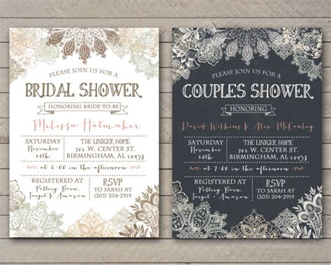 free printable vintage bridal shower invitations vintage lace shower invitation bridal couples baby