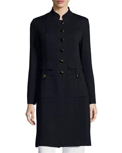 St Dress Jaket lyst st santana button front jacket in black