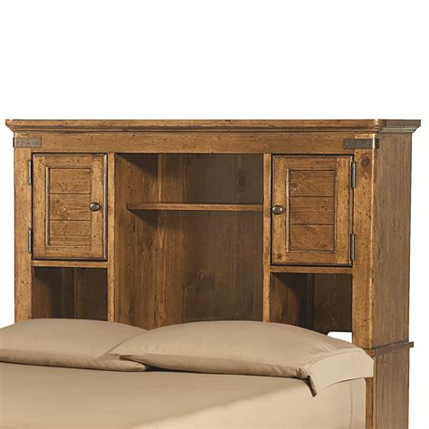 bookcase headboard with shelves and doors by legacy