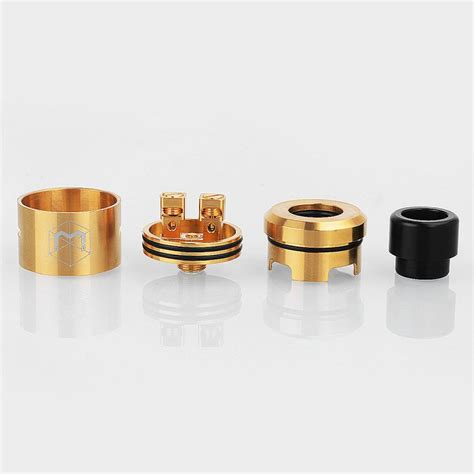 Mad Rda 24mm Gold Plating Authentic Atomizer authentic matrix bf rda gold 316ss 24mm rebuildable atomizer