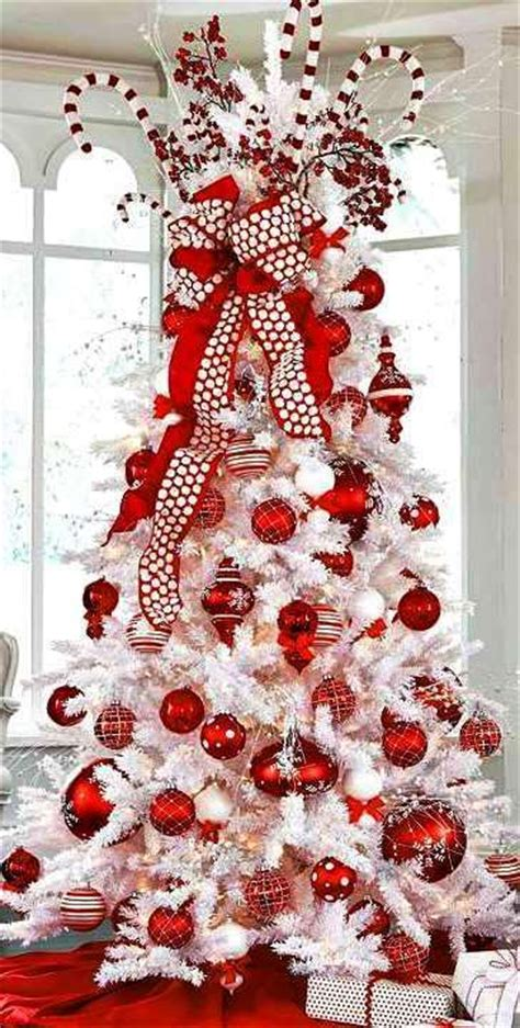 25 unique white christmas tree with red ideas on