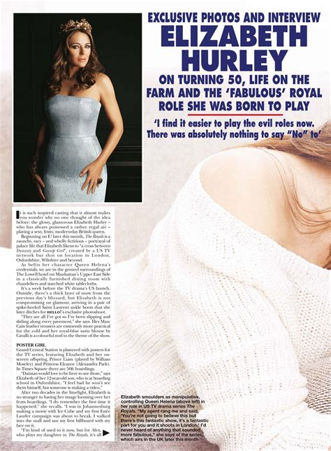 Elizabeth Hurley In Hello Magazine And Also Another Wedding Dress by Elizabeth Hurley Hello Magazine Uk March 2015 Issue