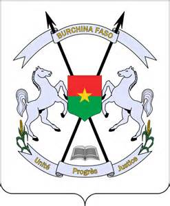 armoiries et les drapeaux d burkina faso