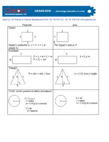 area formula perimeter and area