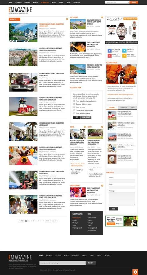 create blog layout joomla ot emagazine powerful blog magazine responsive joomla