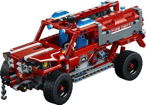 technic truck technic 2018 rally car 42077 fire truck 42075 und