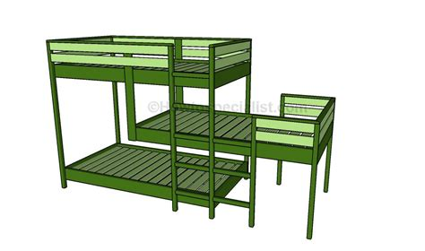 triple bunk bed plans free triple bunk bed plans howtospecialist how to build