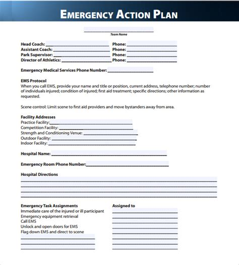 emergency plan template sle emergency plan 11 free documents in word pdf