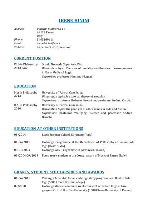 academic cv curriculum vitae curriculum vitae academic
