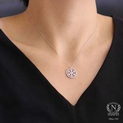 925 Sterling Silver Hoop Necklace 925k sterling silver snowflake in a hoop necklace with