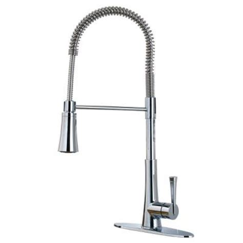 commercial style kitchen faucet pfister mystique single handle 1 or 3 commercial style pull sprayer kitchen