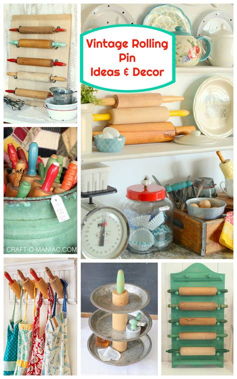 vintage crafts vintage rolling pin ideas and decor craft o maniac