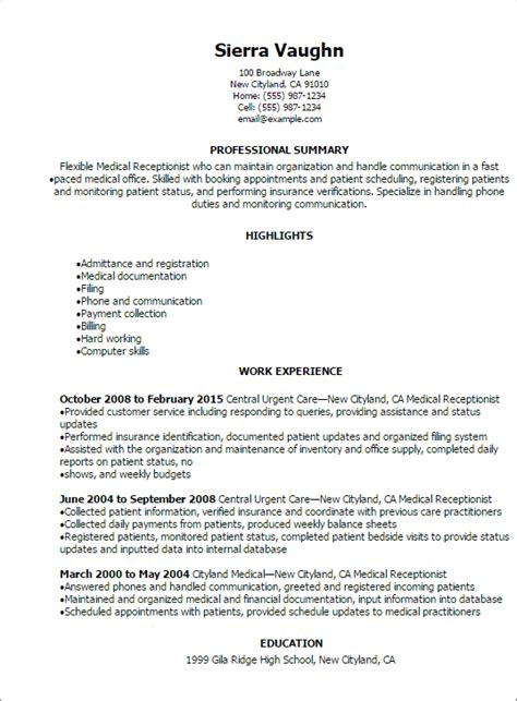 home improvement industry analysis receptionist resume templates