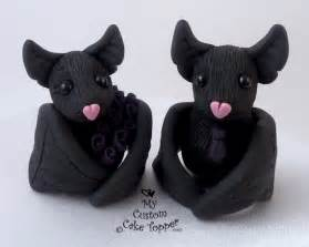 black bat halloween wedding cake topper by mycustomcaketopper