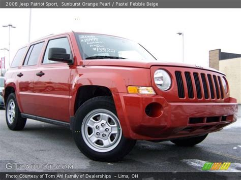 orange jeep patriot sunburst orange pearl 2008 jeep patriot sport pastel