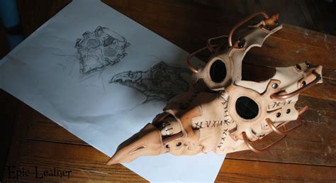 plague doctor mask template steunk plague doctor mask wip by epic leather on deviantart